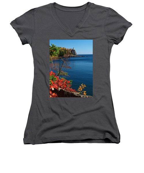 Deep Blue Superior Women's V-Neck T-Shirt