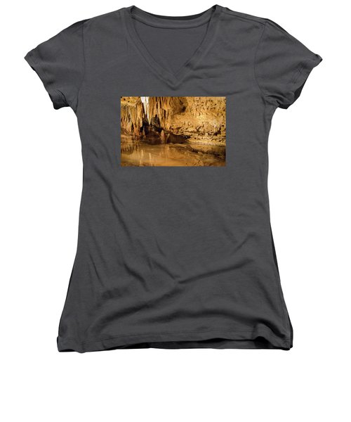 Deep In The Cave Women's V-Neck (Athletic Fit)