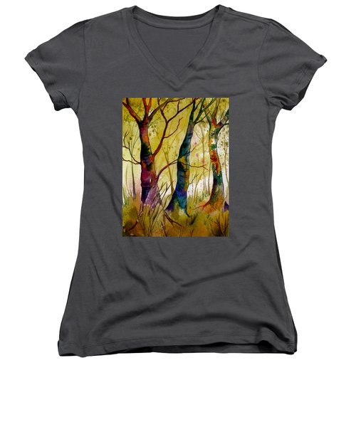Deep In The Woods Women's V-Neck T-Shirt
