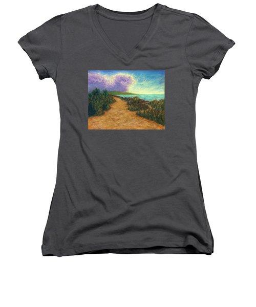 Del Mar Trails 02 Women's V-Neck T-Shirt