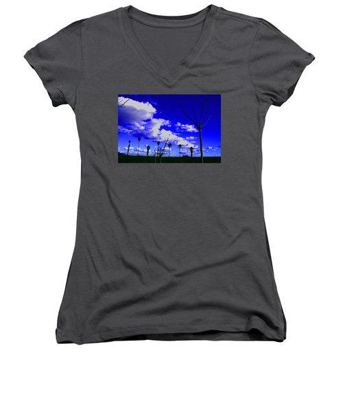Delta Clouds Women's V-Neck