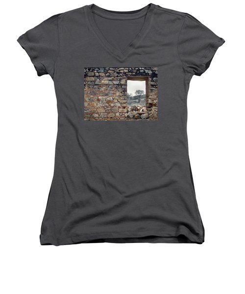 Delusion Women's V-Neck T-Shirt (Junior Cut) by Prakash Ghai