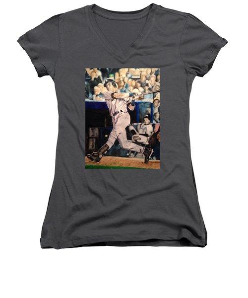 Derek Jeter Women's V-Neck T-Shirt