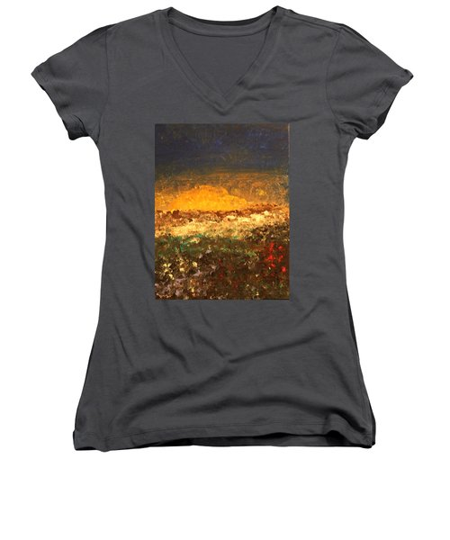 Desert Bloom Women's V-Neck (Athletic Fit)