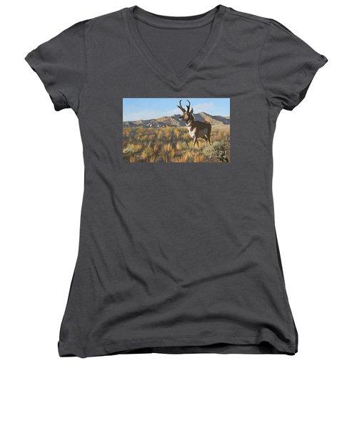 Desert Buck Women's V-Neck