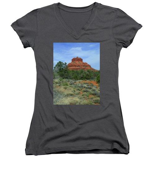Desert Castle Women's V-Neck T-Shirt