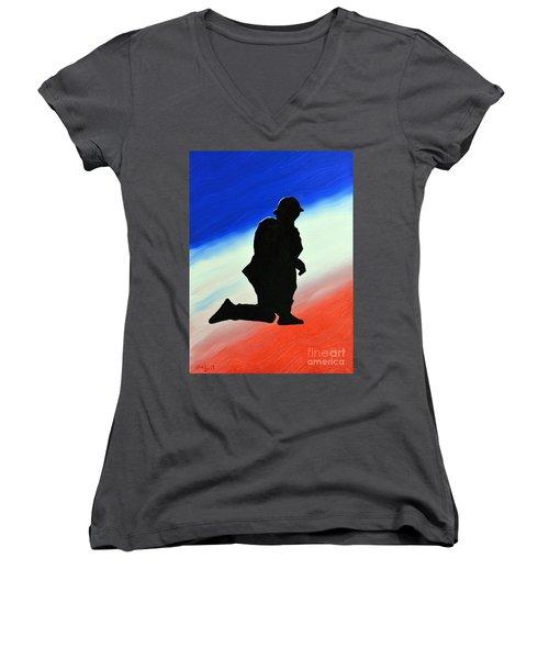 Desert Duty II Women's V-Neck T-Shirt