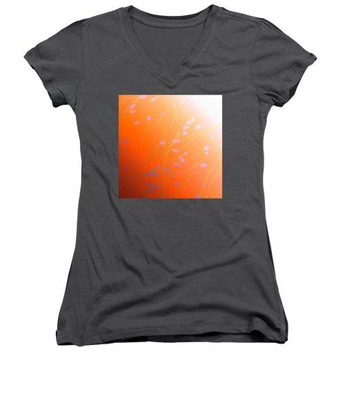 Women's V-Neck T-Shirt (Junior Cut) featuring the photograph Desert Flowers by Holly Kempe