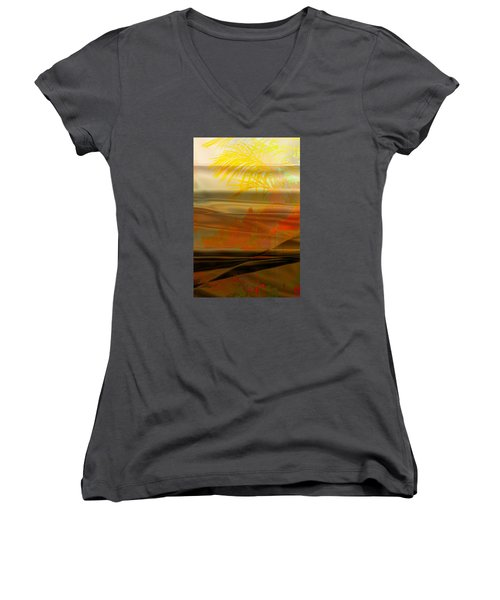 Desert Paradise Women's V-Neck T-Shirt (Junior Cut) by Paula Ayers
