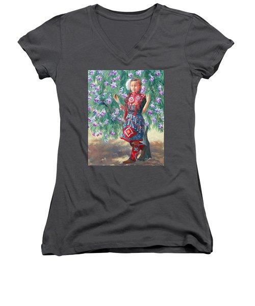 Desert Willow Women's V-Neck T-Shirt