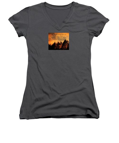 Deuteronomy The Lord Goes Before You Women's V-Neck (Athletic Fit)