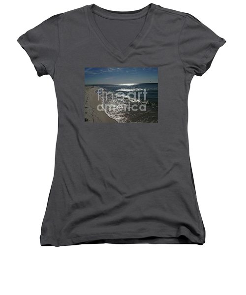Women's V-Neck T-Shirt (Junior Cut) featuring the photograph Diamond Mine by Laurie L
