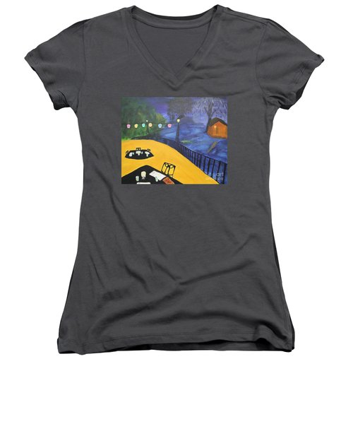 Dinner On The Bayou Women's V-Neck T-Shirt