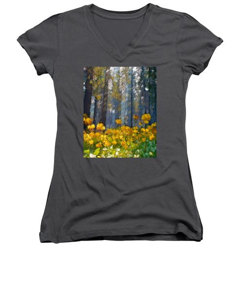 Distorted Dreams By Day Women's V-Neck