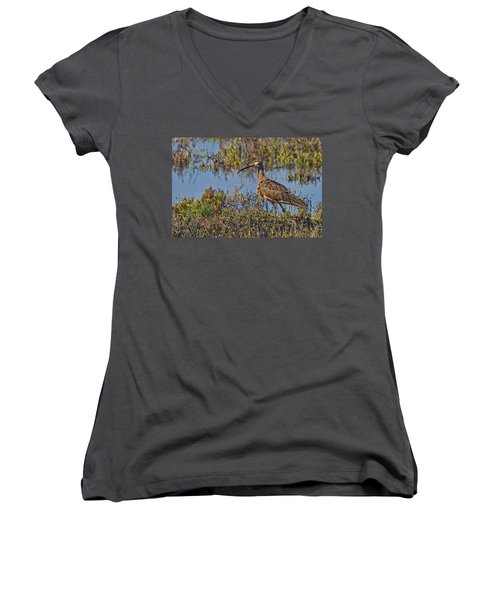 Women's V-Neck T-Shirt (Junior Cut) featuring the photograph Do You Like My Stylish Beak by Gary Holmes