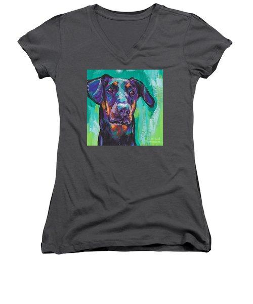 Dobie Love Women's V-Neck T-Shirt