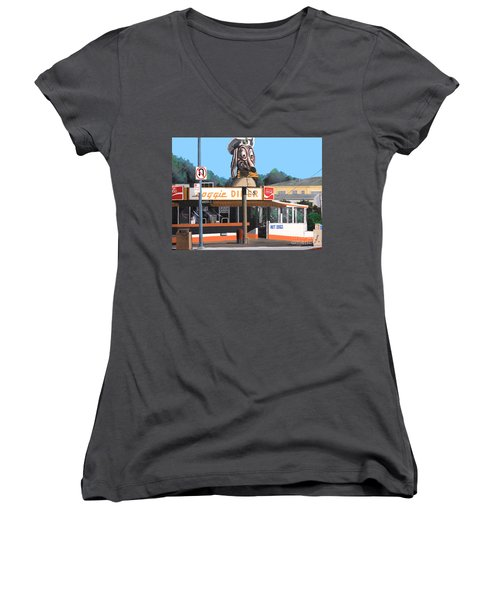 Doggie Diner 1986 Women's V-Neck