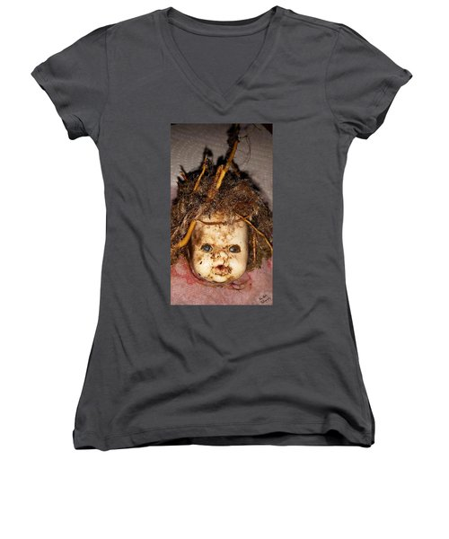 Doll Head Women's V-Neck T-Shirt