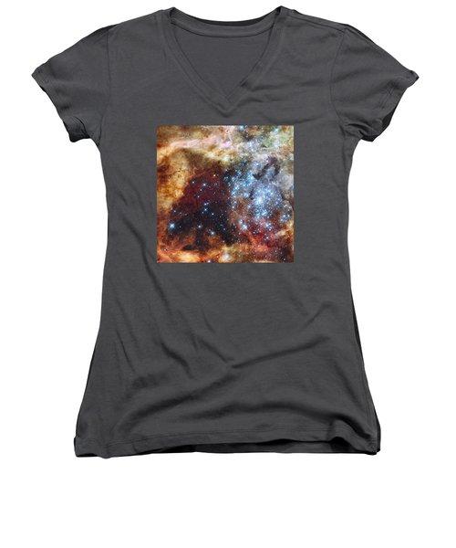 Doradus Nebula Women's V-Neck T-Shirt
