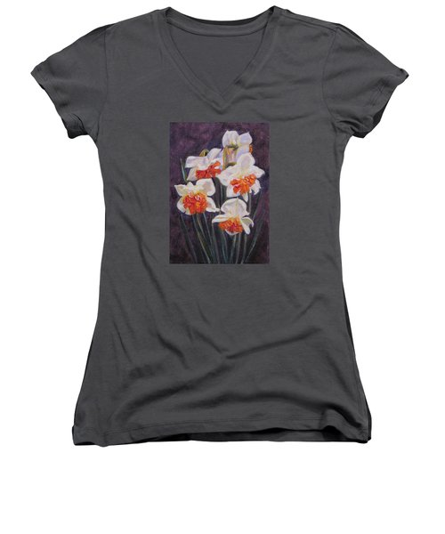 Double Daffodil Replete Women's V-Neck (Athletic Fit)