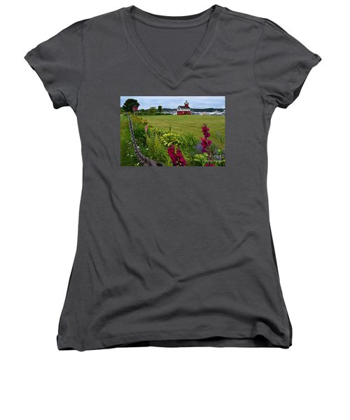 Douglas Lighthouse Water Tower Women's V-Neck (Athletic Fit)