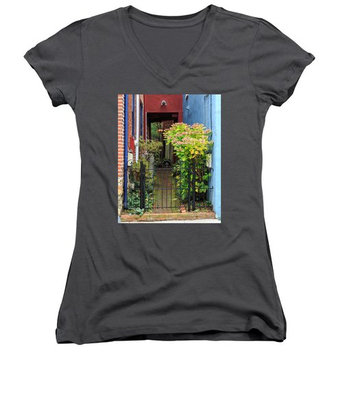 Downtown Garden Path Women's V-Neck T-Shirt
