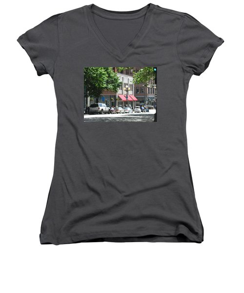 Downtown Neighborhood Women's V-Neck (Athletic Fit)