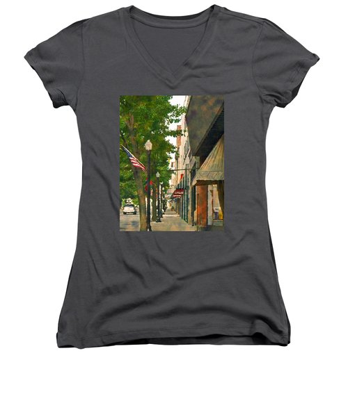 Downtown Usa Women's V-Neck (Athletic Fit)