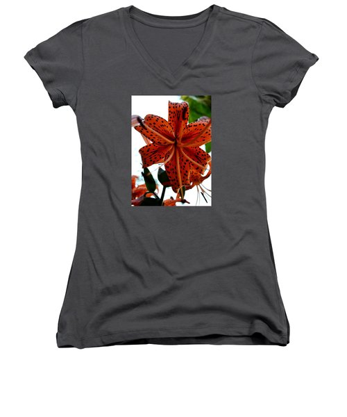 Dragon Flower Women's V-Neck (Athletic Fit)