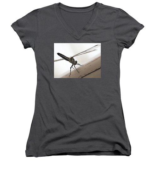 Dragon Of The Air  Women's V-Neck T-Shirt (Junior Cut) by Micki Findlay