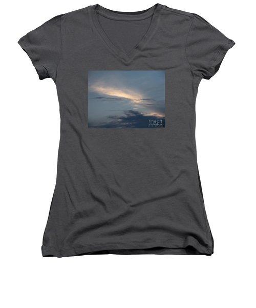 Dramatic Skyline Women's V-Neck T-Shirt (Junior Cut) by Joseph Baril