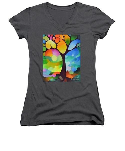 Dreaming Tree Women's V-Neck (Athletic Fit)