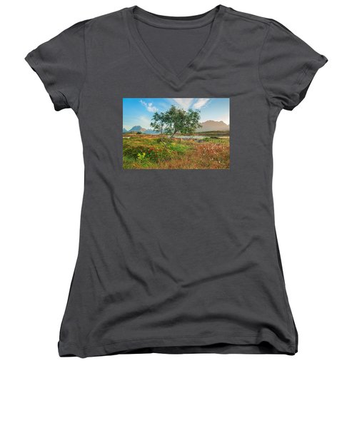 Women's V-Neck T-Shirt (Junior Cut) featuring the photograph Dreamlike by Maciej Markiewicz