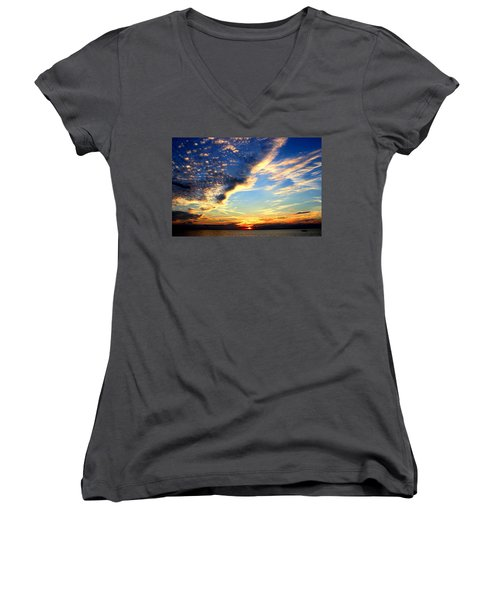 Women's V-Neck T-Shirt (Junior Cut) featuring the photograph Dreamy by Faith Williams