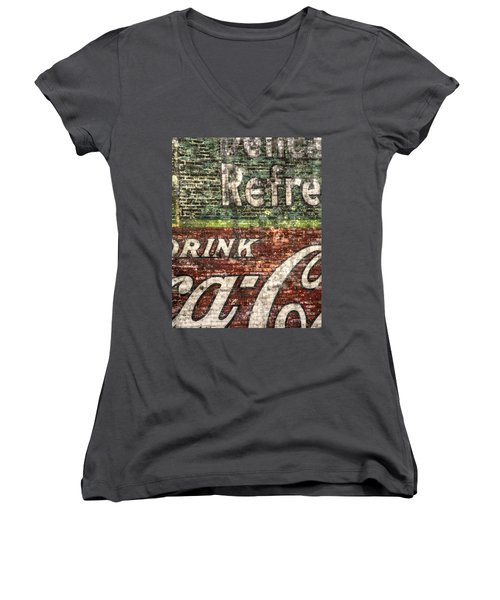 Drink Coca-cola 1 Women's V-Neck (Athletic Fit)