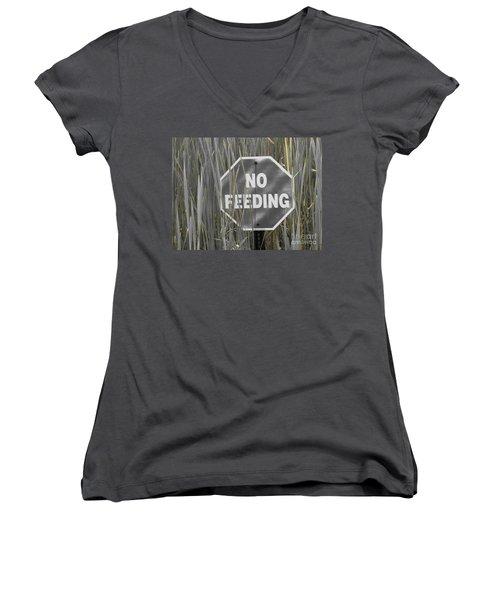 Women's V-Neck T-Shirt (Junior Cut) featuring the photograph Duck Pond by Michael Krek