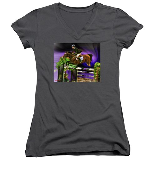 Duncan Mcfarlane On Horse Mr Whoopy Women's V-Neck T-Shirt