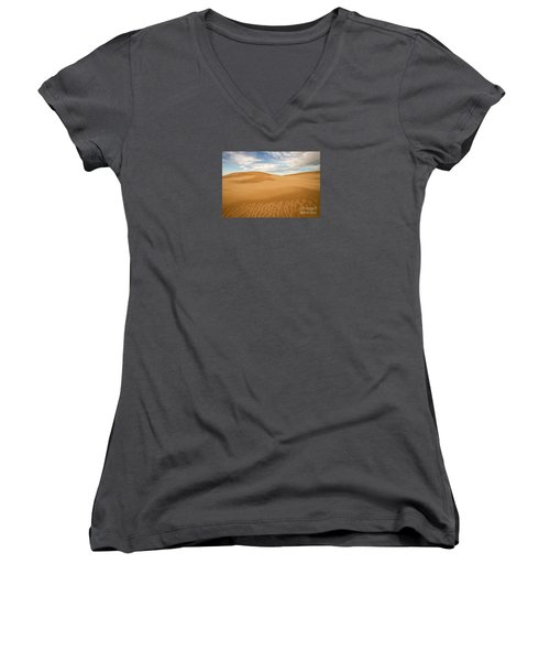 Dunescape Women's V-Neck T-Shirt (Junior Cut) by Alice Cahill