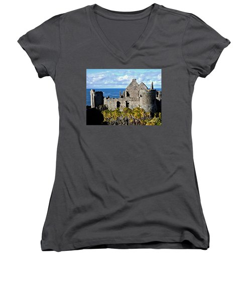 Dunluce Castle Women's V-Neck (Athletic Fit)