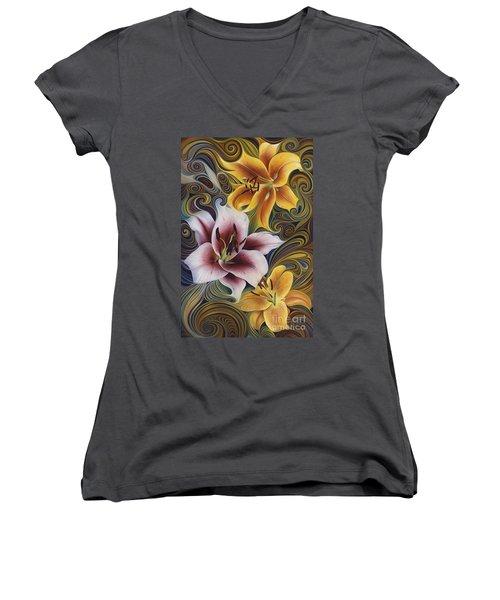 Dynamic Triad Women's V-Neck T-Shirt