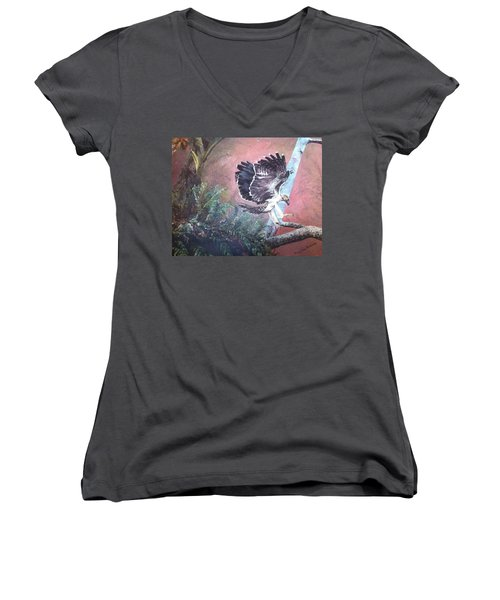 Eagle Light Women's V-Neck T-Shirt