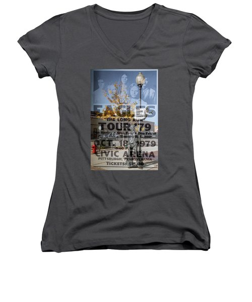 Eagles The Long Run Tour Women's V-Neck