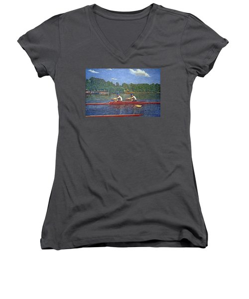 Eakins' The Biglin Brothers Racing Women's V-Neck T-Shirt