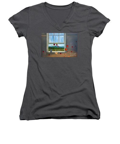 Early Autumn Breeze Women's V-Neck T-Shirt