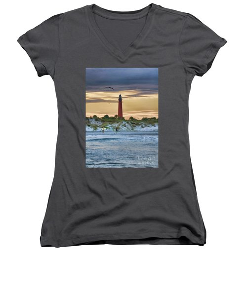Early Evening Sky Women's V-Neck