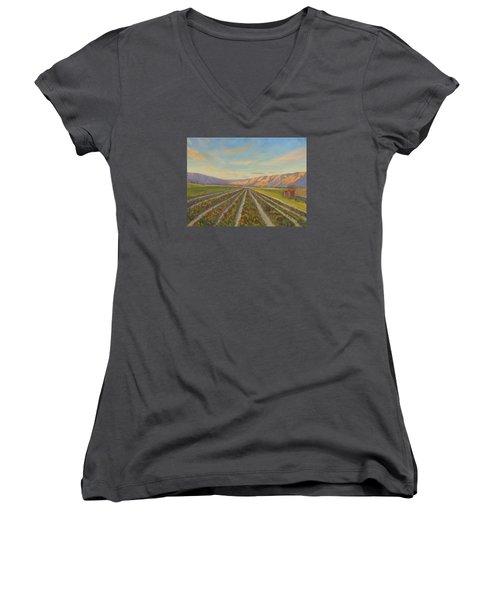 Early Morning Harvest Women's V-Neck T-Shirt