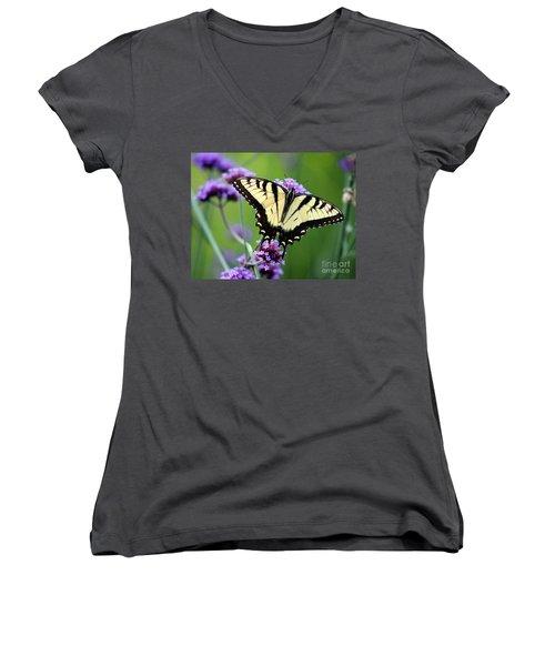 Eastern Tiger Swallowtail Butterfly 2014 Women's V-Neck