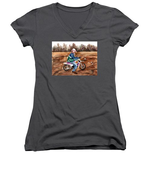 Easy Rider Women's V-Neck T-Shirt (Junior Cut)