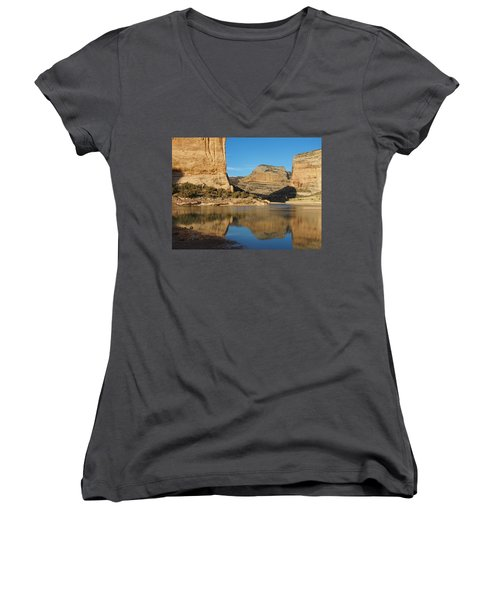 Echo Park In Dinosaur National Monument Women's V-Neck