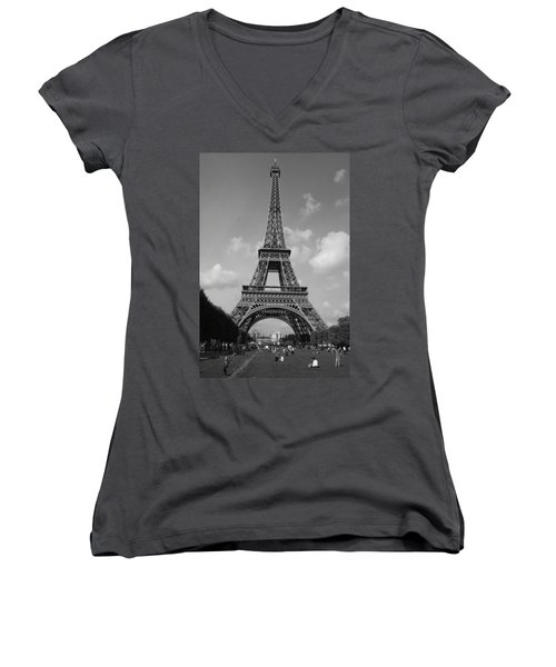 Eiffel Tower Women's V-Neck T-Shirt